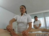 Ashley Marie and GF Massage time Handjob